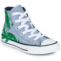 Schoenen Kinderen Hoge sneakers Converse CHUCK TAYLOR ALL STAR DINO DAZE HI Blauw / Groen