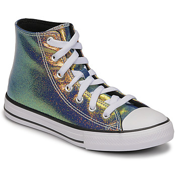 Schoenen Meisjes Hoge sneakers Converse CHUCK TAYLOR ALL STAR IRIDESCENT GLITTER HI Zilver
