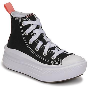 Schoenen Meisjes Hoge sneakers Converse CHUCK TAYLOR ALL STAR MOVE CANVAS HI Zwart / Roze
