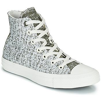Schoenen Dames Hoge sneakers Converse CHUCK TAYLOR ALL STAR HYBRID TEXTURE HI Grijs