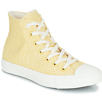 Schoenen Dames Hoge sneakers Converse CHUCK TAYLOR ALL STAR HYBRID TEXTURE HI Geel
