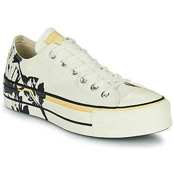 Schoenen Dames Lage sneakers Converse CHUCK TAYLOR ALL STAR LIFT HYBRID FLORAL OX Wit