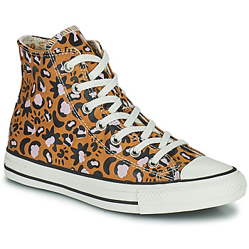 Schoenen Dames Hoge sneakers Converse CHUCK TAYLOR ALL STAR MYSTIC WORLD HI Mosterd / Roze