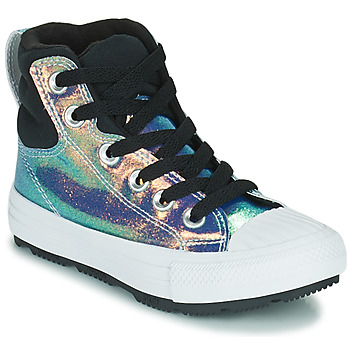 Schoenen Meisjes Hoge sneakers Converse CHUCK TAYLOR ALL STAR BERKSHIRE BOOT IRIDESCENT LEATHER HI Zwart / Brillant