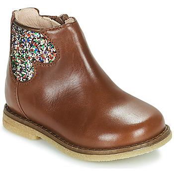 Schoenen Meisjes Laarzen Acebo's 3202-CUERO-I Brown