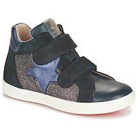 Schoenen Meisjes Hoge sneakers Acebo's 5541SX-MARINO Marine