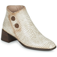 Schoenen Dames Enkellaarzen Hispanitas ALEXA Ecru