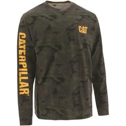 Textiel Heren T-shirts met lange mouwen Caterpillar  Bruine Camo