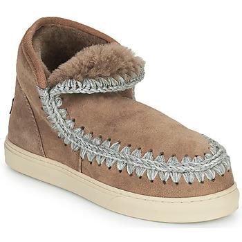 Schoenen Dames Laarzen Mou ESKIMO SNEAKER Brown