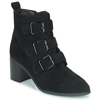 Schoenen Dames Enkellaarzen Moony Mood PAOLA Zwart