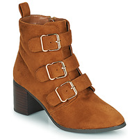 Schoenen Dames Hoge laarzen Moony Mood PAOLA  camel