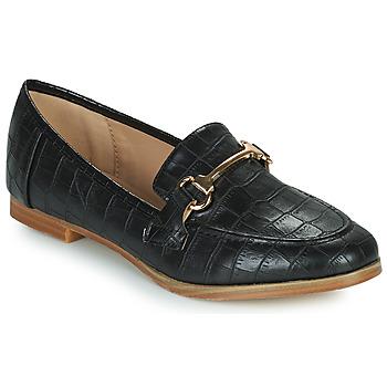 Schoenen Dames Mocassins Moony Mood PRIVA Zwart