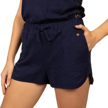 Textiel Dames Korte broeken / Bermuda's Deeluxe  Blauw