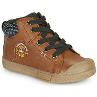 Schoenen Jongens Hoge sneakers Mod'8 HERMIAN Cognac