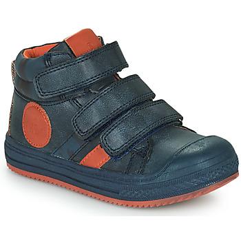 Schoenen Jongens Hoge sneakers Mod'8 TALYE Marine / Orange