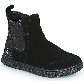 Schoenen Meisjes Laarzen Mod'8 BLANOU Zwart / Glitter