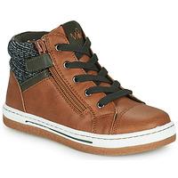 Schoenen Jongens Hoge sneakers Mod'8 KYNATA Cognac