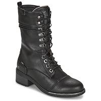 Schoenen Dames Hoge laarzen Mustang 1402501 Zwart