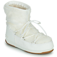 Schoenen Dames Snowboots Moon Boot MOON BOOT MONACO LOW FUR WP 2 Wit