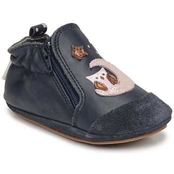 Schoenen Meisjes Babyslofjes Robeez NICE OWL Marine