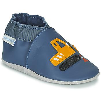 Schoenen Jongens Babyslofjes Robeez YARD ROAD Blauw / Geel