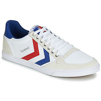 Schoenen Heren Lage sneakers Hummel TEN STAR LOW CANVAS Wit / Rood / Blauw