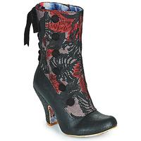 Schoenen Dames Enkellaarzen Irregular Choice REINETTE Zwart / Rood