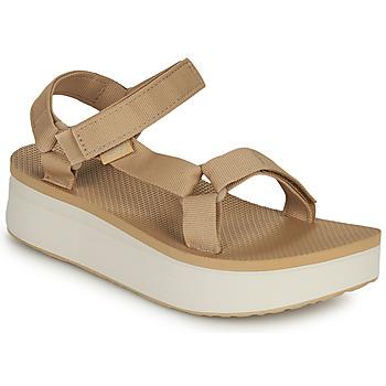 Schoenen Dames Sandalen / Open schoenen Teva Flatform Universal Beige / Wit