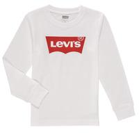 Textiel Jongens T-shirts met lange mouwen Levi's L/S BATWING TEE Wit