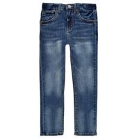 Textiel Jongens Skinny Jeans Levi's 510 SKINNY FIT EVERYDAY PERFORMANCE JEANS Blauw / Donker