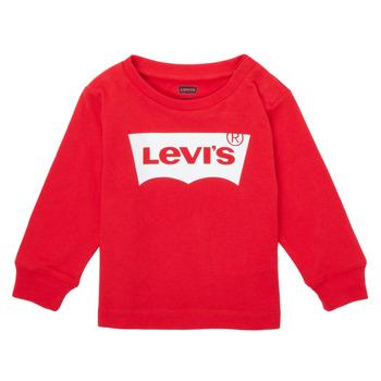 Textiel Jongens T-shirts met lange mouwen Levi's L/S BATWING TEE Rood