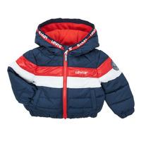 Textiel Jongens Dons gevoerde jassen Levi's COLORBLOCK JACKET Rood / Et / Wit