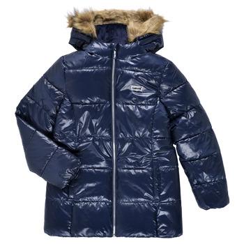 Textiel Meisjes Dons gevoerde jassen Levi's FUR PUFFER Marine