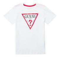 Textiel Jongens T-shirts korte mouwen Guess CELAVI Wit