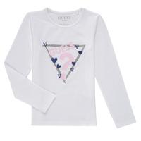 Textiel Meisjes T-shirts met lange mouwen Guess MONICA Wit