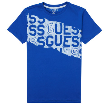 Textiel Jongens T-shirts korte mouwen Guess LISTIN Blauw