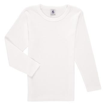 Textiel Jongens T-shirts met lange mouwen Petit Bateau KELOMA Wit