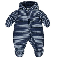 Textiel Jongens Dons gevoerde jassen Petit Bateau TECHA Blauw / Wit