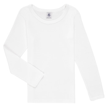 Textiel Meisjes T-shirts met lange mouwen Petit Bateau FATRE Wit