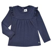 Textiel Meisjes T-shirts met lange mouwen Petit Bateau IWAKA Marine