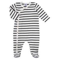 Textiel Kinderen Pyjama's / nachthemden Petit Bateau ONZER Wit / Marine