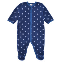 Textiel Jongens Pyjama's / nachthemden Petit Bateau BENIR Blauw / Wit