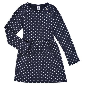 Textiel Meisjes Korte jurken Petit Bateau KARREMA Blauw / Wit
