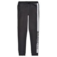 Textiel Jongens Trainingsbroeken Calvin Klein Jeans RESPIRA Zwart