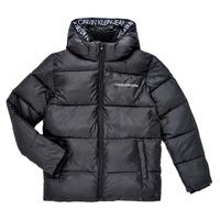 Textiel Jongens Dons gevoerde jassen Calvin Klein Jeans LITHERA Zwart