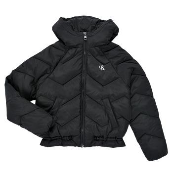 Textiel Meisjes Dons gevoerde jassen Calvin Klein Jeans ZIETRA Zwart