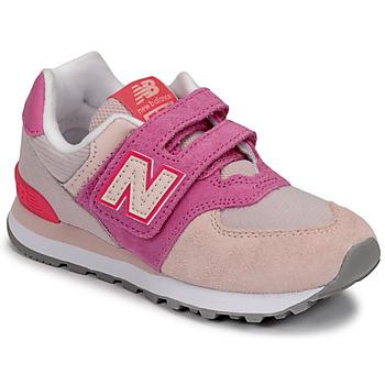 Schoenen Meisjes Lage sneakers New Balance 574 Roze / Violet