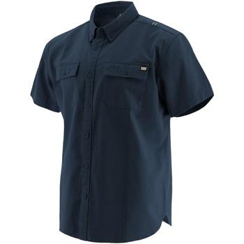 Textiel Heren Overhemden korte mouwen Caterpillar  Marine