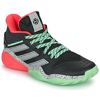 Schoenen Basketbal adidas Performance HARDEN STEPBACK Zwart / Grijs / Groen