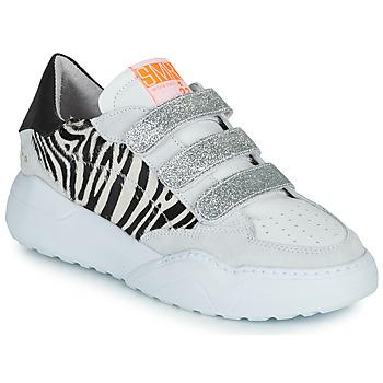 Schoenen Dames Lage sneakers Semerdjian OTTO Beige / Zwart / Zilver